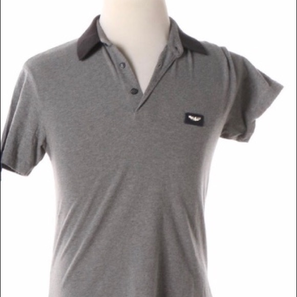 29cd8515 AJ Armani Jeans Gray Men's Polo USA NWOT